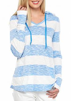 crown & ivy™ beach Stripe Hoodie
