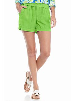 crown & ivy™ Cuffed Tencel Shorts