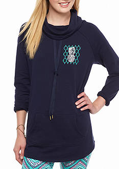 crown & ivy™ beach Graphic Sweeper Sweatshirt