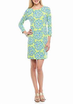 crown & ivy™ beach Paisley Printed Dress