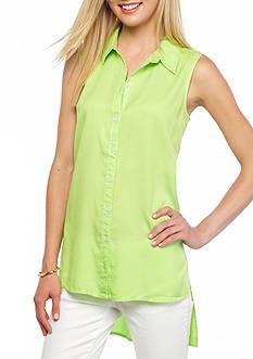 crown & ivy™ beach Sleeveless Extreme Shirt
