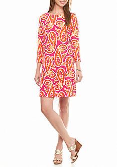 crown & ivy™ beach Paisley Fish Knit Dress