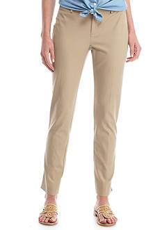 Crown & Ivy™ Flat Front Woven Pant
