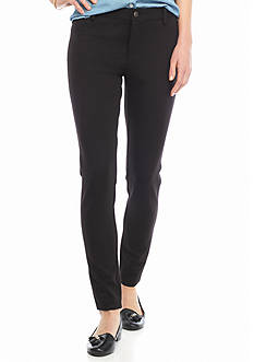 Crown & Ivy™ Fly Front Ponte Pant