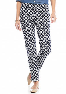 Crown & Ivy™ Print Front Fly Bi-Stretch Pant