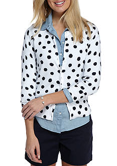 Crown & Ivy™ Dot Print Cardigan