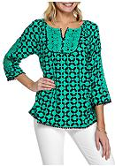 Crown & Ivy™ Woven Peasant Top