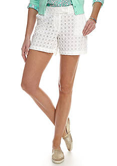 Crown & Ivy™ Eyelet Shorts