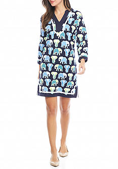 Crown & Ivy™ Elephant Print Modern Dress