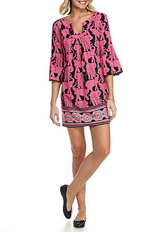 Crown & Ivy™ Flounce Sleeve Pom Dress
