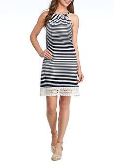 Crown & Ivy™ Crochet Border Halter Dress