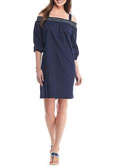Crown & Ivy™ Woven Off-Shoulder Dress