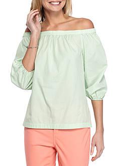 Crown & Ivy™ Off the Shoulder Stripe Top