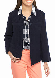 Crown & Ivy™ Single Button Textured Cardigan