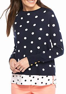 Crown & Ivy™ Cross Back 2Fer Sweater