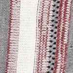 Cardigan Sweaters for Women: Grey / Burgundy New Directions Vertical Stripe Fringe Cardigan