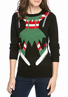 New Directions Skiing Elf Holiday Sweater