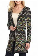 New Directions® Multi Color Aztec Cardigan