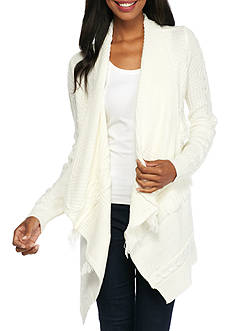 New Directions Solid Mixed Stitch Cardigan