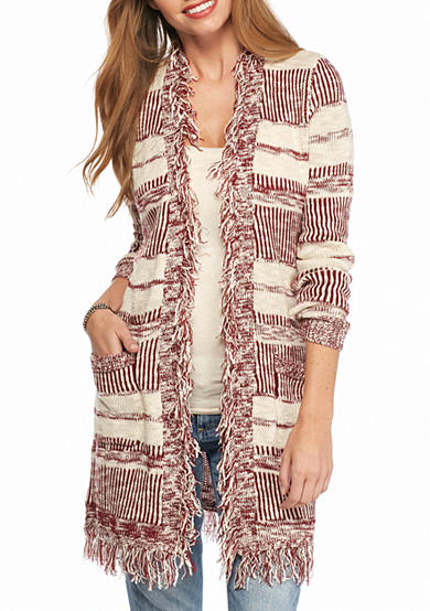 New Directions® Textured Stripe Cardigan
