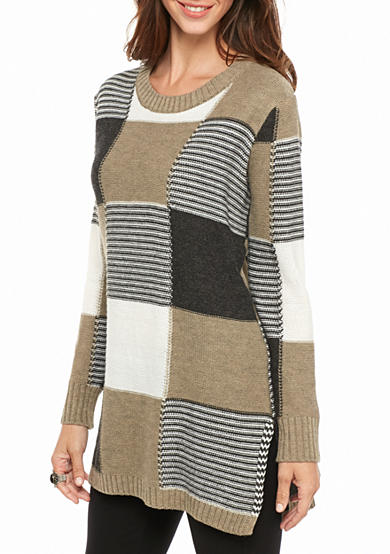 New Directions® Colorblock Side Slit Tunic