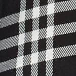Black Button Down Shirts for Women: Black / White New Directions Lace Back Plaid Shirt
