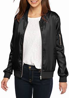 New Directions Solid Bomber Jacket