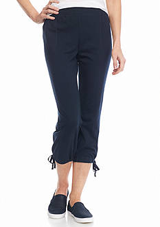 New Directions® Weekend Tie Hem Pull-On Capris
