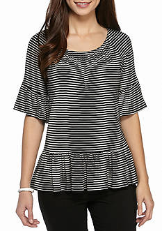 New Directions Striped Knit Top