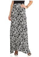 New Directions® Allover Diamond Maxi Skirt