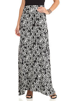New Directions Allover Diamond Maxi Skirt