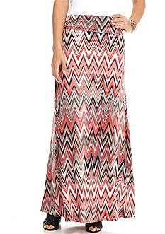 New Directions Multi Chevron Skirt