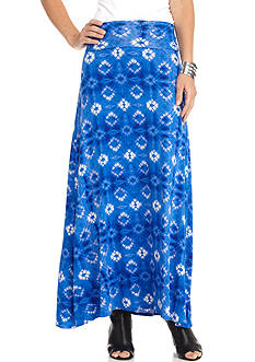 New Directions Medallion Print Maxi Skirt