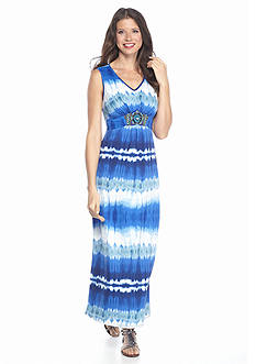 New Directions® Embellished Tie Dye Maxi Dress