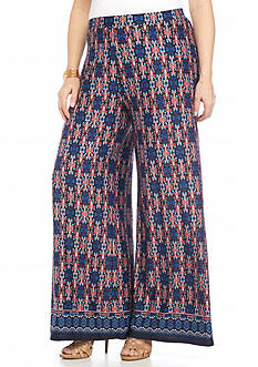 New Directions® Plus Size Printed Soft Pant