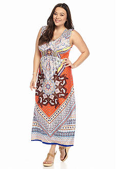 New Directions® Plus Size Embellished Maxi Dress