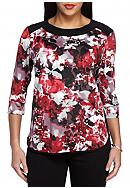 New Directions® Petite Size Floral Print Top