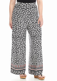 New Directions® Plus Size Border Print Soft Pant