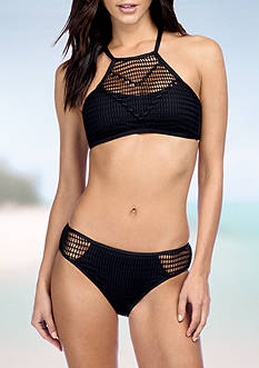 Kenneth Cole Wrapped In Love Hi-Neck Bra Swim Top