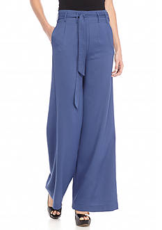 Double Zero Wide Leg Tie Waist Pants