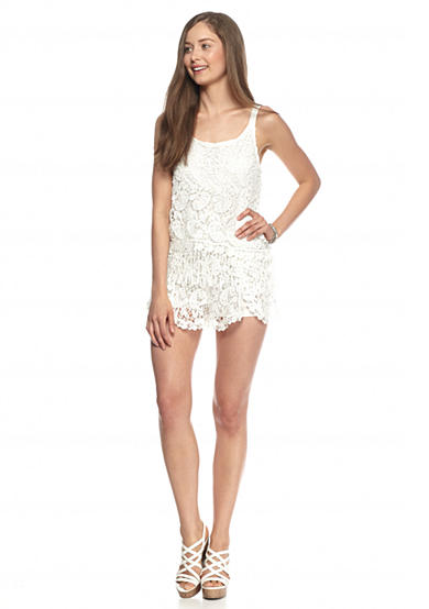 Double Zero White Lace Romper