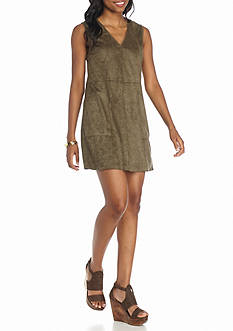 HYFVE Suede Studded Sleeveless Dress