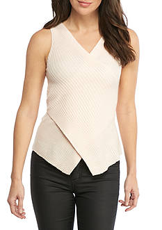 HYFVE Sleeveless Asymmetrical Sweater Top