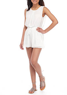 HYFVE Sleeveless Strapped Cowl Back Romper