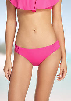 Trina Turk Gypsy Shirred Side Bikini Swim Bottom