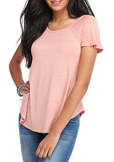 Red Camel Short Sleeve Back Cutout Tee