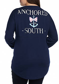 Red Camel Plus Size Anchored South Sweatshirt