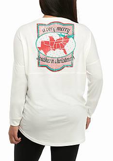 Red Camel Plus Size Oh Deer Sweatshirt