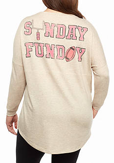 Red Camel Plus Size Raglan Sweeper Sunday Funday