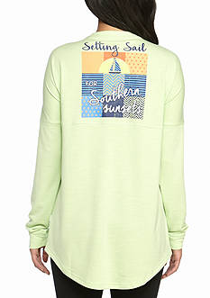 Red Camel Setting Sail Sweeper Knit Top